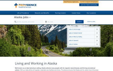 Screenshot of Home Page providence-alaska.jobs - Providence Alaska Jobs - captured Feb. 2, 2018