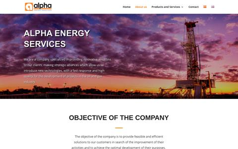 Screenshot of About Page alpha-energyservices.com - Us | Alpha Energy Services - captured July 29, 2018