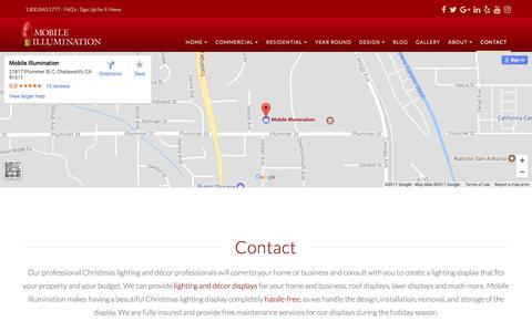 Screenshot of Contact Page mobileillumination.com - Contact | Mobile Illumination - captured Nov. 16, 2017