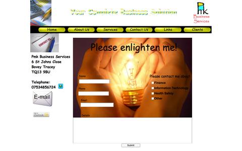 Screenshot of Contact Page pmkbusinessservices.co.uk - Contact Us - How to get in touch - captured Sept. 30, 2014