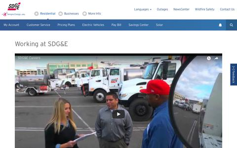 Screenshot of Jobs Page sdge.com - Careers | San Diego Gas & Electric - captured Sept. 21, 2018