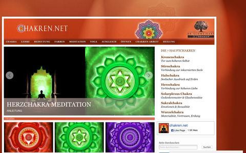 Screenshot of Home Page chakren.net - Chakra | Dr. Schweikart - captured Oct. 10, 2018