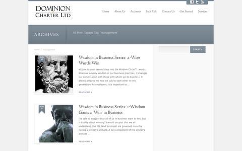 Screenshot of Team Page dominioncharterltd.com - management - captured Oct. 29, 2014