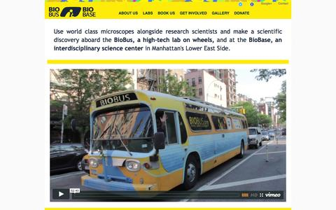Screenshot of Home Page biobus.org - BioBus - home - captured Sept. 30, 2014