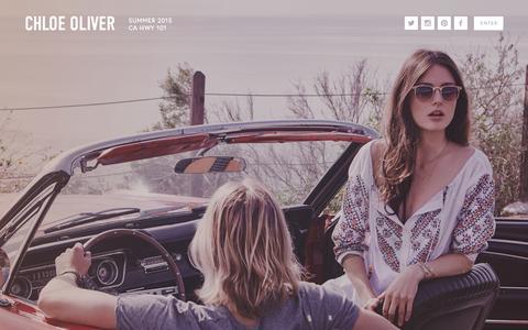 Screenshot of Home Page chloeoliver.us - Chloe Oliver - captured July 20, 2015