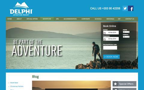 Screenshot of Blog delphiadventureresort.com - Blog - captured Nov. 3, 2014