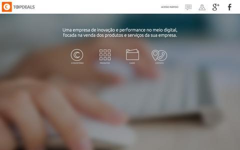 Screenshot of Menu Page topdeals.com.br - Top Deals - Negócios e Ideias - captured Feb. 15, 2016