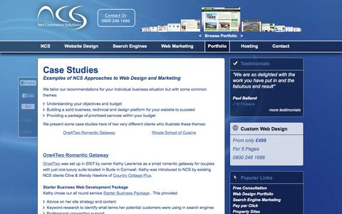 Screenshot of Case Studies Page net-commerce-solutions.co.uk - Case Studies from Web Marketing Strategy Consultants on UK and International Markets - captured Feb. 17, 2016