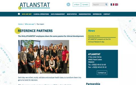 Screenshot of Team Page atlanstat.com - The team of Atlanstat - captured July 24, 2016