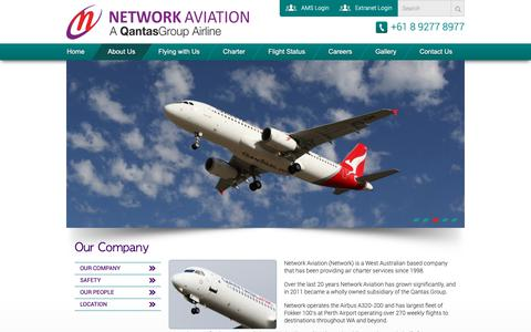 Screenshot of About Page networkaviation.com.au - Our Company | Network AviationNetwork Aviation - captured Oct. 20, 2018