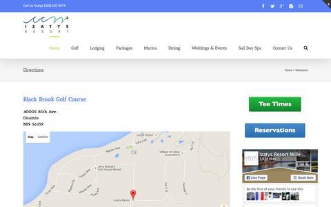 Screenshot of Maps & Directions Page izatys.com - Izatys Golf Resort -   Directions - captured Feb. 11, 2016
