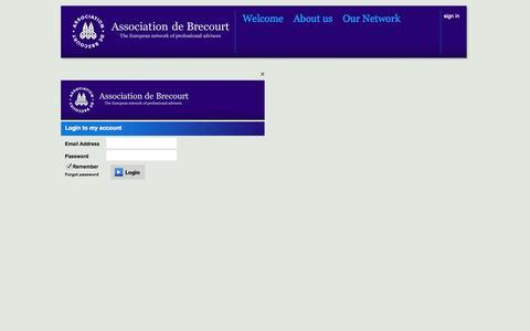 Screenshot of Login Page brecourt.com - Brecourt - Association de Brecourt - captured Oct. 4, 2014