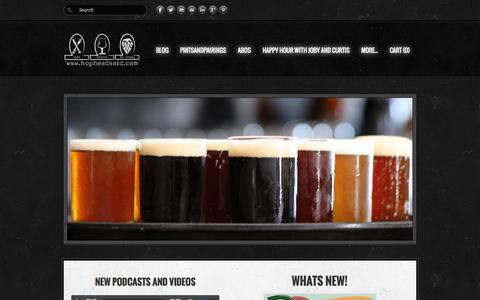 Screenshot of Home Page hopheadsaid.com - HopHeadSaid - HopHeadSaid.HomePage - captured Sept. 30, 2014