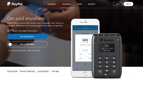 PayPal Here: Credit Card Reader | Point of Sale and Mobile Credit Card Processing