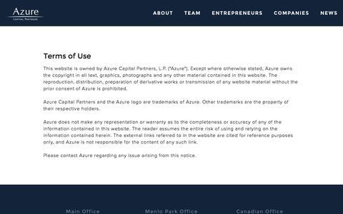 Screenshot of Terms Page azurecap.com - Terms — Azure - captured Nov. 21, 2016