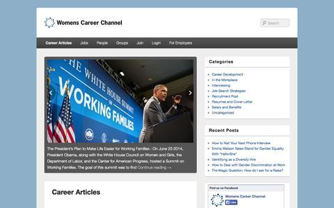 Screenshot of Blog womenscareerchannel.com - Career Articles   WCC Blog - captured Oct. 30, 2014