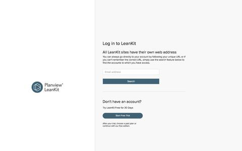 Log in to LeanKit | Planview LeanKit