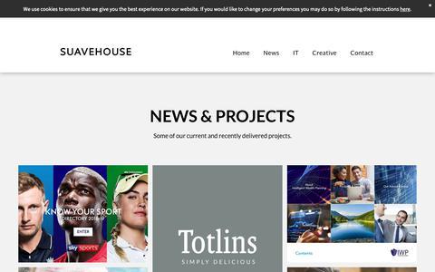 Screenshot of Press Page suavehouse.co.uk - SUAVEHOUSE News - captured Oct. 20, 2018