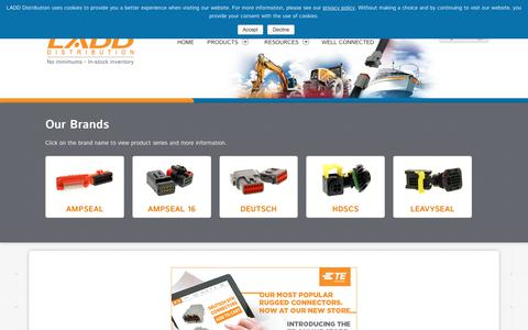 Screenshot of Products Page laddinc.com - Our Products   LADD Distribution - captured Sept. 25, 2018