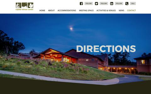 Screenshot of Maps & Directions Page capitalretreat.org - Directions | Capital Retreat Center | Waynesboro, PA - captured July 13, 2017