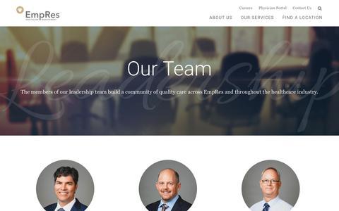 Screenshot of Team Page empres.com - Our Team | EmpRes - captured Sept. 28, 2018