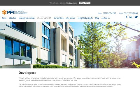 Screenshot of Developers Page pm-propertymanagement.co.uk - Property Management Services for Property Developers - captured Dec. 13, 2018