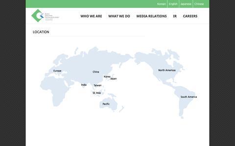 Screenshot of Maps & Directions Page kohyoung.com - –  map - captured Nov. 27, 2016
