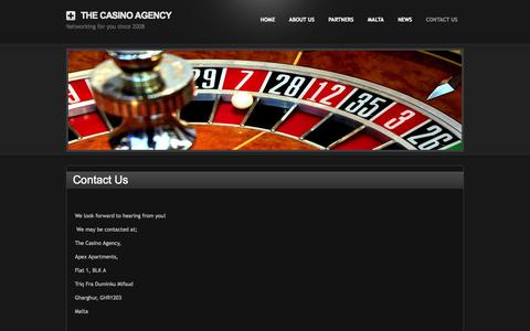 Screenshot of Contact Page thecasinoagency.com - Contact Us - The Casino Agency - captured Oct. 7, 2014