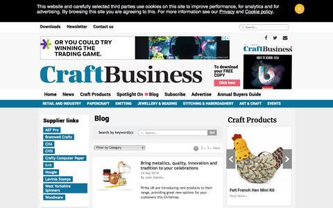 Screenshot of Blog craftbusiness.com - Editorial Blog   Craft Business Magazine UK - captured Sept. 24, 2018