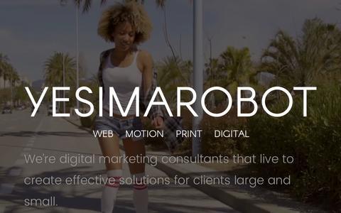 Screenshot of Home Page yesimarobot.com - YESIMAROBOT - DIGITAL MARKETING | Just another WordPress site - captured March 17, 2017