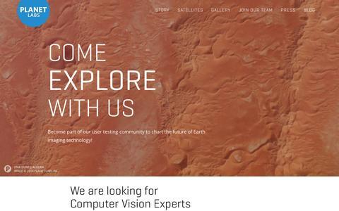 Screenshot of Signup Page planet.com - Planet Explorers Program - Planet Labs - captured Dec. 17, 2014