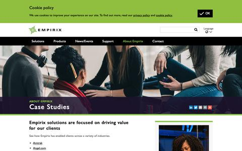 Screenshot of Case Studies Page empirix.com - Case Studies | Empirix - captured Nov. 4, 2018