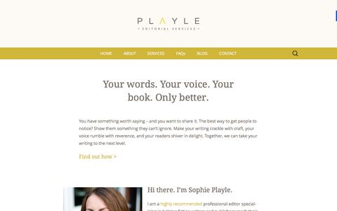 Screenshot of About Page playle-editorial-services.com - About - Playle Editorial Services - captured March 25, 2016