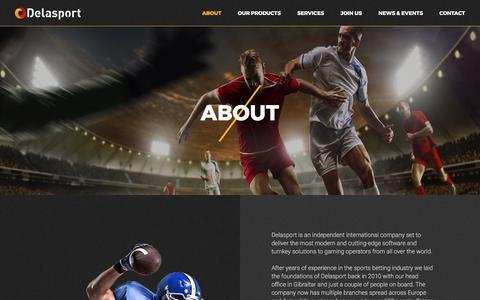 Screenshot of About Page delasport.com - About Us : Delasport - captured June 4, 2017