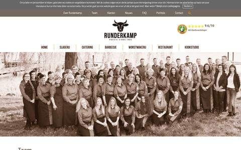 Screenshot of Team Page runderkamp.nl - Team Runderkamp | Passie voor lekker eten | Runderkamp.nl - captured Nov. 7, 2018