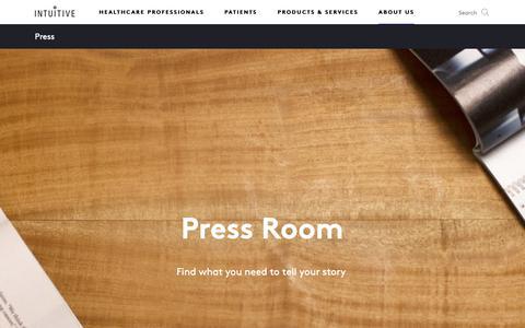 Screenshot of Press Page intuitive.com - Intuitive   Company   Press - captured Feb. 16, 2019