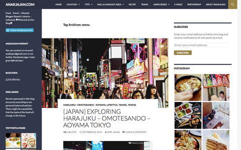 Screenshot of Menu Page anakjajan.com - menu | ANAKJAJAN.COM - captured Nov. 4, 2014