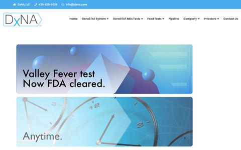 Screenshot of Home Page dxna.com - DxNA – DxNA, LLC - captured Oct. 9, 2018