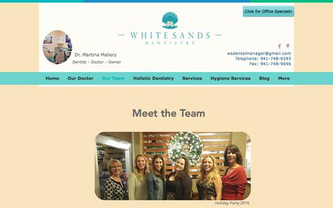 Screenshot of Team Page whitesandsdentistry.com - Holistic Dentist | 520 48th St Ct E | White Sands Dentistry | Our Team - captured Nov. 14, 2017