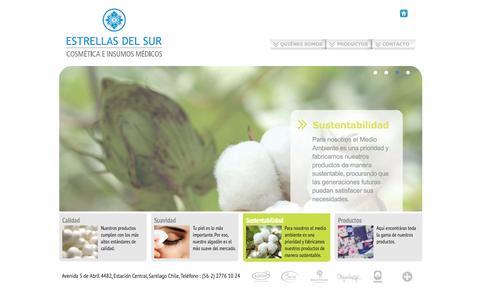 Screenshot of Home Page estrellasdelsur.cl - Estrellas del Sur - Cosmética e Insumos Médicos - captured Feb. 5, 2016