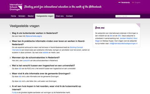 Screenshot of FAQ Page internationalschoolsgroningen.com - Veelgestelde vragen | International Schools Groningen - captured March 12, 2016