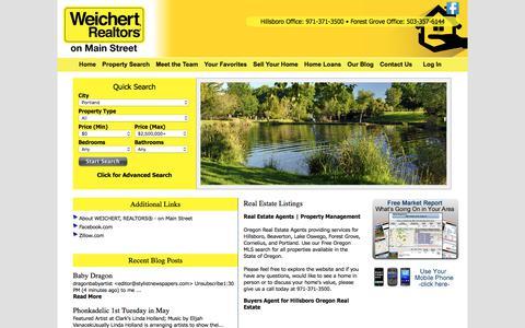 Screenshot of Home Page weichertrealtorsonmainstreet.com - WEICHERT, REALTORS® - on Main Street - captured July 7, 2018