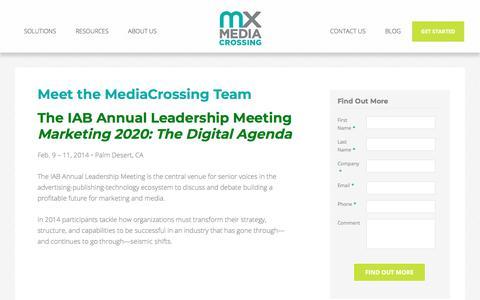 Screenshot of Team Page mediacrossing.com - Meet the MediaCrossing Team | MediaCrossing - captured May 22, 2018