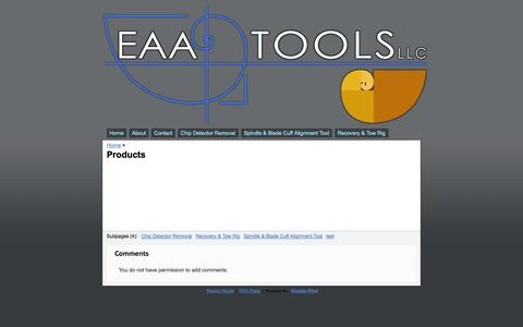 Screenshot of Products Page eaatools.com - Products - EAA Tools - captured Oct. 1, 2014