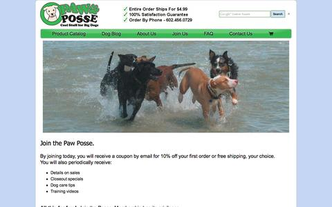 Screenshot of Signup Page pawposse.com - Coupons, Sales, Promo Codes, and More - captured Oct. 28, 2016