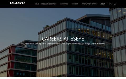 Screenshot of Jobs Page eseye.com - Careers   Eseye.com - captured Dec. 10, 2015