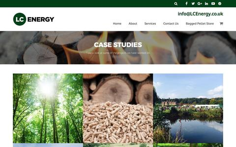 Screenshot of Case Studies Page lcenergy.co.uk - Case Studies - captured May 12, 2017