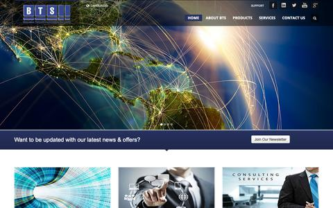 Screenshot of Home Page bts.io - BTS - Business Telecommunications Services - captured Oct. 4, 2018
