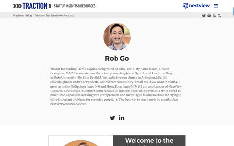 Screenshot of Blog nextviewventures.com - Rob Go, Author at NextView Ventures - captured April 17, 2017