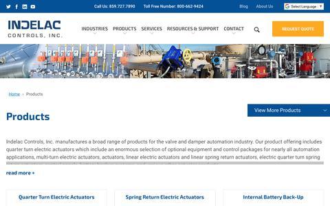 Screenshot of Products Page indelac.com - Products | Indelac Controls, Inc. - captured Nov. 14, 2018